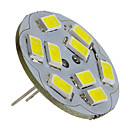 abordables LED à Double Broches-2 W Spot LED 6000 lm G4 9 Perles LED SMD 5730 Blanc Naturel 12 V