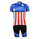 hesapli GoPro İçin Aksesuarlar-Malciklo Erkek Yarım Kol Şortlu Bisiklet Forması Mavi+Kırmızı şampiyon Ulusal Bayrak Bisiklet Giysi Takımları Nefes Alabilir Su Geçirmez Fermuar Spor Dalları %100 Polyester Dağ Bisikletçiliği Yol