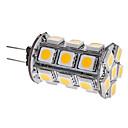 hesapli LED Bi-pin Işıklar-3000lm G4 LED Mısır Işıklar T 24 LED Boncuklar SMD 5050 Sıcak Beyaz 12V