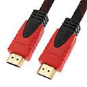 hesapli HDMI Kablolar-10m 30ft siyah& Kırmızı 1080p hdmi v1.4 hdmi / ferrit çekirdek w yüksek hızlı HDMI kablosu HDMI için