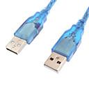 ieftine USB-uri-USB 2.0 Barbat de date Male cablu albastru de cristal (0,3 M)