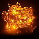 hesapli LED Şerit Işıklar-220 v 10 m 100 leds sarı ışıklar noel düğün odası dekorasyon dize ışıkları