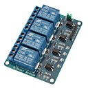 baratos Terminais e Conectores-Módulo de relé 4 ch com optocoupler 5v para pic avr dsp braço para arduino