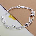 preiswerte Armbänder-Damen Ketten- & Glieder-Armbänder - versilbert Armbänder Silber Für Weihnachts Geschenke Hochzeit Party