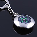 cheap Key Chains-Personalized Engraved Gift Round Compass Shaped Keychain