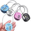 Buy Luggage Lock Padlock Coded Digit Portable Mini Size Anti-theft lock Accessory Zinc Alloy Plastic Canvas