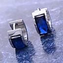 preiswerte Ohrringe-Damen Synthetischer Diamant Kreolen - Edelstahl, Titanstahl, Diamantimitate Blau Für Weihnachts Geschenke / Alltag