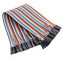 abordables Connecteurs & Terminaux-femme de ruban de couleur femelle câble plat cavalier dupont 40 fils 1p-1p 2,54 mm (pour la Arduino) (20cm)