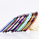 cheap Makeup & Nail Care-12pcs 12 color striping tape line nail stripe tape nail art decoration sticker