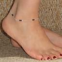 preiswerte Ringe-shixin® klassischen handgemachten Legierung goldene Fußkettchen (blau, dunkelblau, schwarz, pink) (1 Stück)
