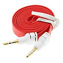 hesapli Ses ve Video Kabloları-Erkek Kablosu 1M 3,3 ft Erişte Daire Yardımcı Aux Ses Kablosu 3.5mm Jack Erkek