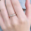 cheap Rings-Women's Band Ring - Stainless Steel, Rhinestone Luxury, Fashion Adjustable Silver / Golden For Party Daily Casual