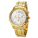 رخيصةأون أقراط-المرأة الماس جولة الطلب ستيل باند النظير كوارتز ساعة المعصم (ألوان متنوعة)
