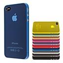 hesapli iPhone Kılıfları-iphone 4 / 4s için ince pc şeffaf yumuşak kasayı (çeşitli renklerde)