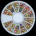 hesapli Makyaj ve Tırnak Bakımı-1 pcs Nail Jewelry Mevye / Çiçek / Soyut Sevimli Günlük / Karikatür / Punk
