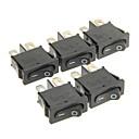 cheap Connectors & Terminals-Hongju Diy T85 2-Pin Rocker Boat Switch - Black Color (5 Pcs)