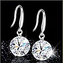 cheap Earrings-Women's Crystal Drop Earrings bridesmaid Sterling Silver Crystal Earrings Jewelry Purple / Red / Green For Wedding Party Daily