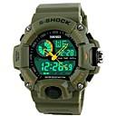 Χαμηλού Κόστους Ανδρικά ρολόγια-SKMEI Ανδρικά Αθλητικό Ρολόι Ανθεκτικό στο Νερό / Διπλές Ζώνες Ώρας / Απίθανο καουτσούκ Μπάντα Μαύρο / Δύο χρόνια / Maxell626 + 2025