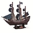 رخيصةأون ملصقات ديكور-طبعة فاخرة سوبر لغز 3D كبير الحرفية السفينة الكمثرى السوداء DIY 3D نموذج ثلاثي الأبعاد قارب لغز لعبة تعليمية