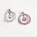 hesapli Küpeler-Kristal Göbek Halkası / Göbek Piercing - Kristal Kadın's Beyaz / Pembe Vücut Mücevheri Uyumluluk Günlük