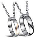 hesapli Takı Paketleme ve Gösterim-Uçlu Kolyeler  -  Titanyum Çelik Kalp Moda Gümüş Kolyeler Uyumluluk Düğün, Parti, Günlük