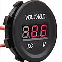 hesapli Yüzükler-dc 12v-24v araba dijital led gerilim elektrik volt metre monitör göstergesi test