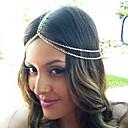 hesapli Saç Takıları-shixin® moda çift zincirli altın kafa bandı (1 adet)