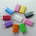 hesapli Şarj Aletleri-Ev Şarj Cihazı / Taşınabilir şarj USB Şarj Aleti EU Priz 1 USB Bağlantı Noktası 1 A için