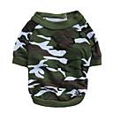 abordables Les Enfants de la Maison-Chat Chien Tee-shirt Vêtements pour Chien camouflage Couleur camouflage Coton Costume Pour les animaux domestiques