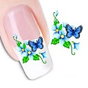 cheap Makeup & Nail Care-1 pcs Flower / Wedding / Fashion Water Transfer Sticker / 3D Nail Stickers Daily