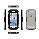 hesapli Saç Takıları-Pouzdro Uyumluluk iPhone 6s Plus / iPhone 6 Plus / iPhone 6s iPhone 6 Plus / iPhone 6 Su Geçirmez Tam Kaplama Kılıf Tek Renk Sert PC için