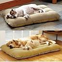 رخيصةأون ملابس وإكسسوارات الكلاب-Large Dog Pet Nest with Lamb Suede Mat  70*50