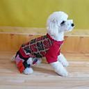 baratos Coleiras, Peitorais e Guias para Cães-Casacos - Inverno - Vermelho Algodão / Terylene - para Cães - XS / S / M / L / XL