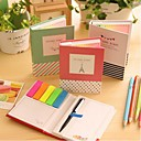 abordables Material de Oficina-diferentes notas autoadhesivas shape con bolígrafo (color al azar)