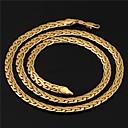 ieftine Colier la Modă-Coliere Choker Lănțișoare Coliere Colier Figaro lanț chunky Foxtail lanț femei Dubai Placat Auriu Aur Alb 18K de aur umplut Auriu Coliere Bijuterii Pentru Nuntă Petrecere Zilnic Casual Sport