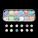 hesapli Makyaj ve Tırnak Bakımı-1 pcs Nail Jewelry Çiçek / Soyut / Karikatür Sevimli Günlük Tırnak Tasarımı Tasarımı / Punk