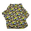 hesapli Köpek Giyim ve Aksesuarları-Kedi / Köpek Tişört Köpek Giyimi Karton Haki Terylene Kostüm Evcil hayvanlar için Erkek / Kadın's