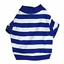 preiswerte Bekleidung & Accessoires für Hunde-Katze Hund T-shirt Hundekleidung Streifen Blau Baumwolle Kostüm Für Haustiere