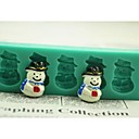 preiswerte Backzubehör & Geräte-Weihnachtsschneemann-Geschenk-Fondant-Kuchen Schokolade Silikonform Kuchen Dekorationswerkzeuge, l12 * w4 * h1.3cm