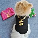 hesapli Köpek Giyim ve Aksesuarları-Kedi Köpek Tişört Köpek Giyimi Siyah Yeşil Mavi Pembe Terylene Kostüm Evcil hayvanlar için Cosplay Düğün