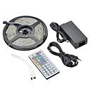 preiswerte LED Lichtstreifen-ZDM® 5m Leuchtbänder RGB 150 LEDs 5050 SMD 1 44Tastenfernbedienung / 1 x 12V 3A Adapter RGB Wasserfest / Dekorativ 12 V 1set / IP65