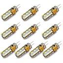 hesapli LED Bi-pin Işıklar-144 lm G4 LED Bi-pin Işıklar 24 LED Boncuklar SMD 3014 Dekorotif Sıcak Beyaz / Serin Beyaz 12 V / 10 parça
