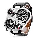 preiswerte Personalisierte Armbanduhren-Personalisierte Geschenke Beobachten, Duale Zeitzonen Japanischer Quartz Beobachten With Legierung Gehäuse-Material PU Band Militäruhr