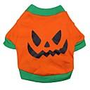 ieftine Imbracaminte & Accesorii Căței-Pisici Câine Costume Tricou Ținute Îmbrăcăminte Câini Desene Animate Portocaliu Bumbac Costume Pentru Primăvara & toamnă Cosplay Halloween