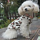 ieftine Imbracaminte & Accesorii Căței-Pisici Câine Hanorca Pijamale Îmbrăcăminte Câini Leopard Negru Lână polară Costume Pentru animale de companie Bărbați Pentru femei