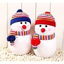 billige Modellegetøj-lille størrelse udsøgt snemand med strikhue dukke pude julegave (1 stk)