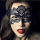tanie Cadıla Bayramı Makyajı-Karnawał Maska Męskie Damskie Halloween Festiwal/Święto Kostiumy na Halloween Black Jendolity kolor Koronkowe
