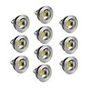 hesapli Makyaj ve Tırnak Bakımı-5W GU5.3(MR16) LED Spot Işıkları 1 COB 400-450 lm Sıcak Beyaz / Serin Beyaz / Doğal Beyaz Kısılabilir DC 12 V 10 parça