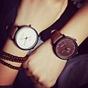 お買い得  レディース腕時計-カップル用 リストウォッチ クォーツ レザー ブラック / ブラウン カジュアルウォッチ ハンズ レディース カジュアル ファッション - ブラック Brown ホワイト-ブラック 1年間 電池寿命 / SSUO 377