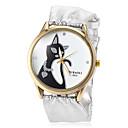 cheap Brooches-Women's Fashion Watch Wrist Watch Quartz Hot Sale PU Band Analog Charm Silver - Gold Black